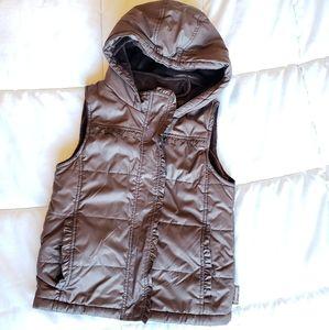 Girls' Weatherproof hooded puffer vest